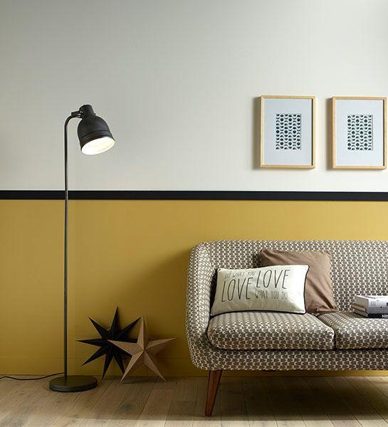 Le jaune mais seulement moutarde et curry - Comment decorer les murs de la maison ...