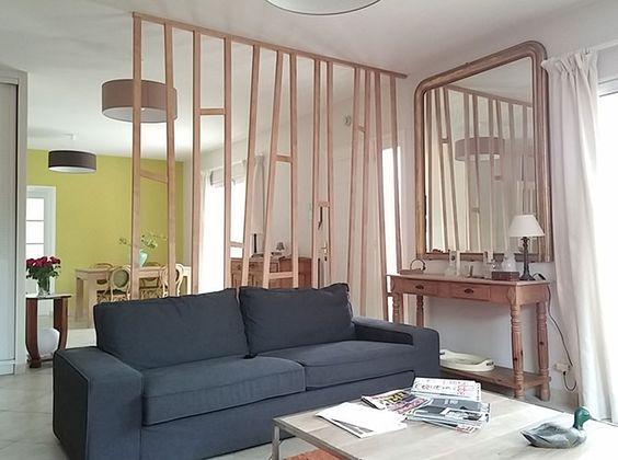 Les cloisons en bois l ments structurants de l espace hemoon maison am - Separation en bois deco interieure ...