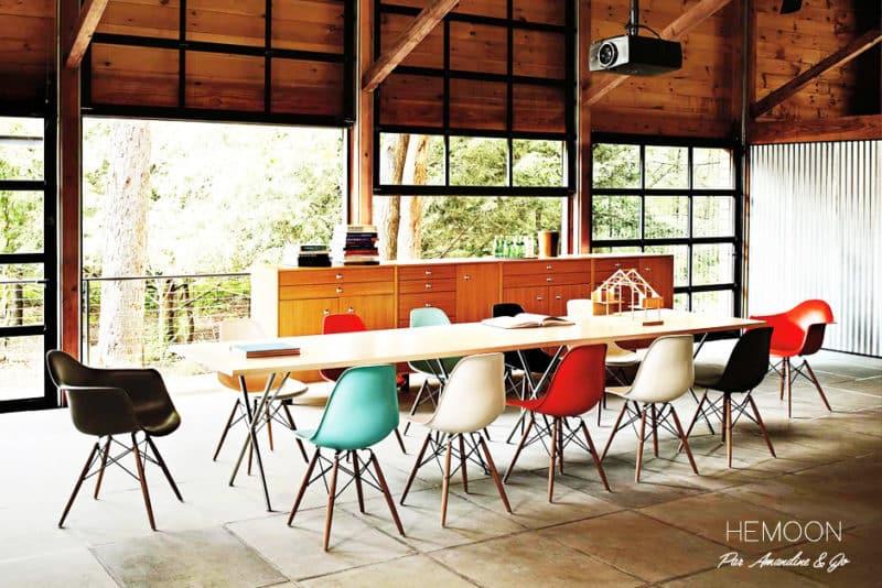 L'incontournable… Chaise Eames et ses reproductions.