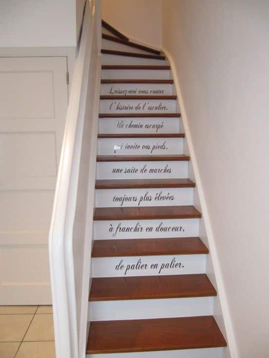 Inspiration des escaliers customis s hemoon maison for Photo escalier peint blanc gris