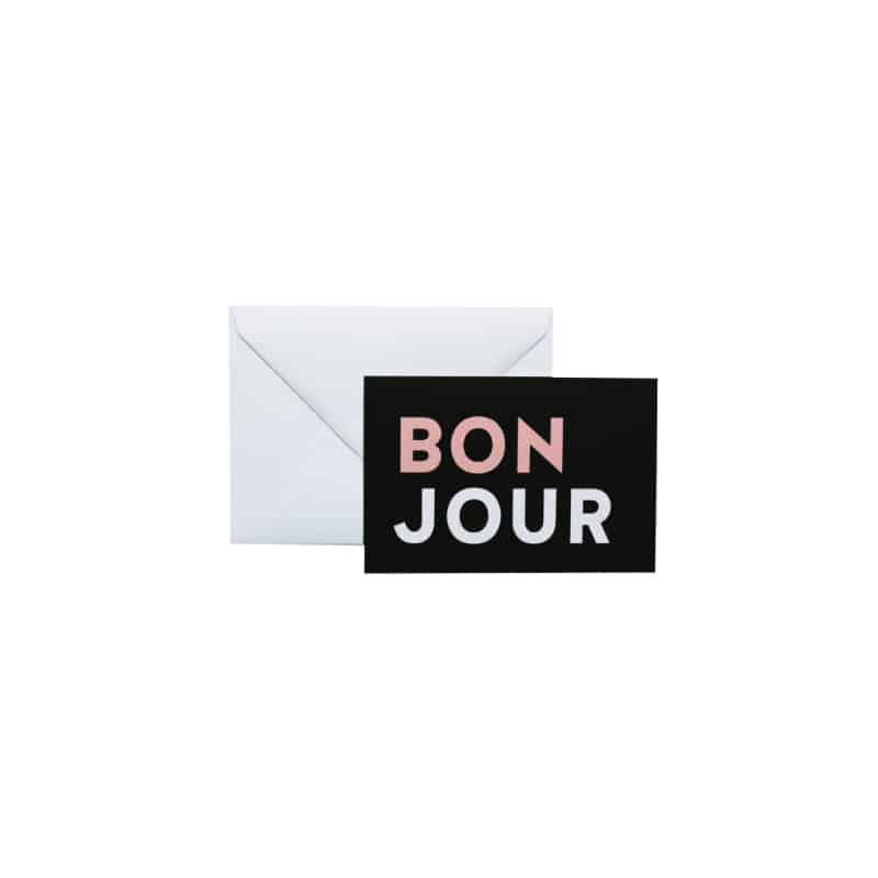 Carte - BONJOUR - HEMOON - Maison & Décoration