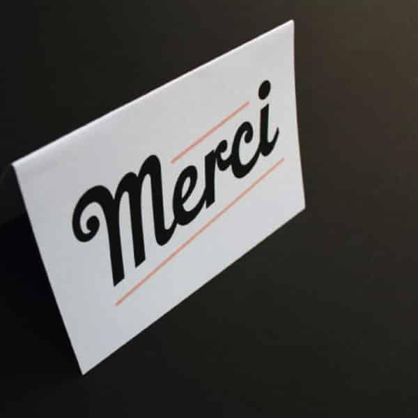 """Carte de voeux """"MERCI"""" - MilieO - HEMOON : Maison & Décoration"""