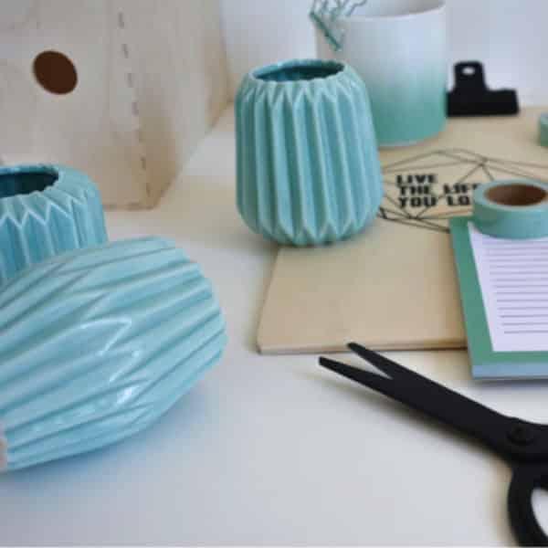 Photophore origami - Vert menthe - HEMOON - Maison & Décoration