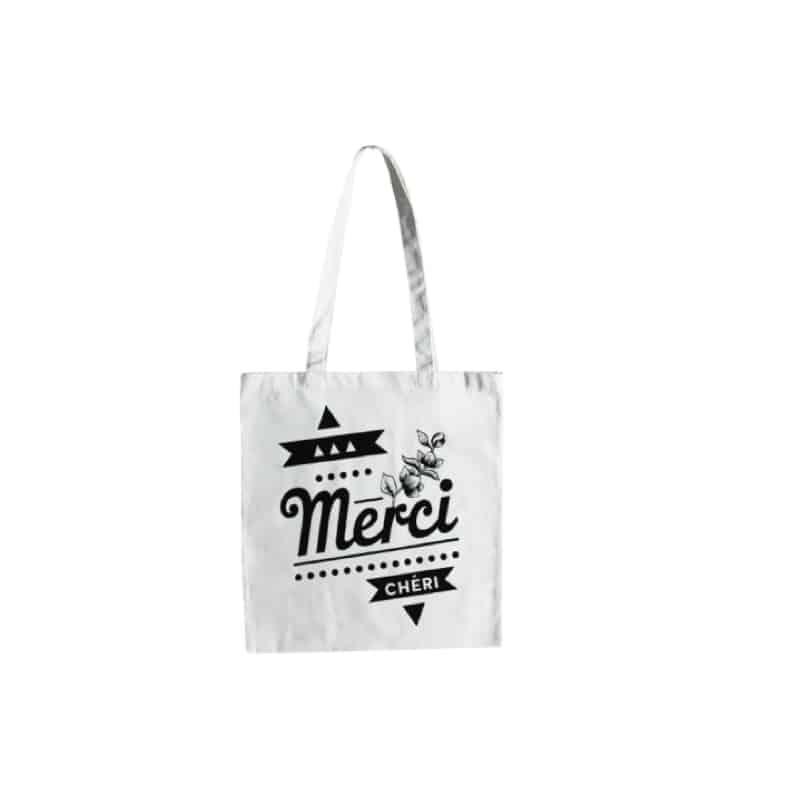 Tote Bag - Merci Chéri - HEMOON - Maison & Décoration