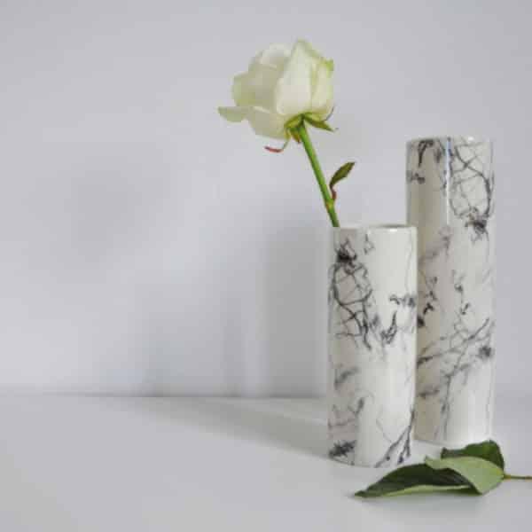 Vase à motif marbre par Hubsch - Hemoon : Maison & Décoration