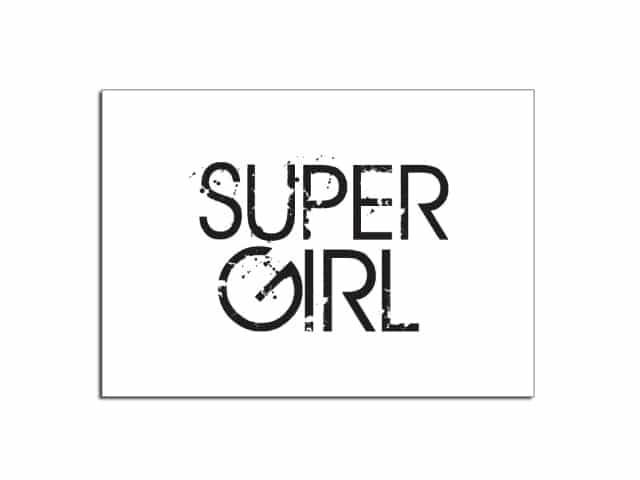 Déco murale en bois - SUPER GIRL - HEMOON - Maison & Décoration