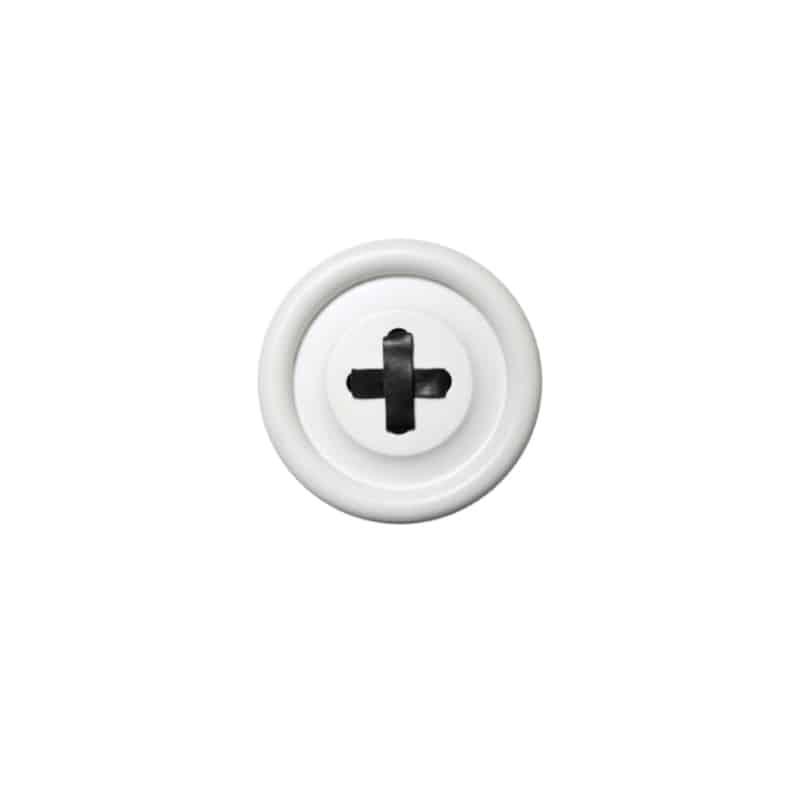 Patère bouton HK LIVING - Blanc - Hemoon : Maison & Décoration