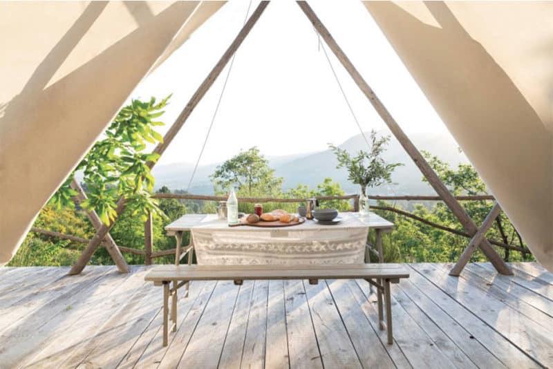 Un hôtel atypique de rêve pour un été indien