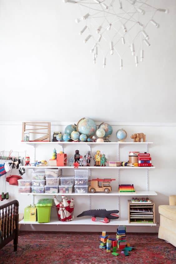 La mappemonde s'adapte aussi à la décoration d'une chambre d'enfant