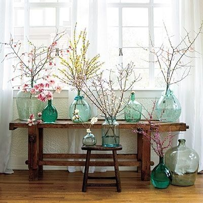 Les vases Dame Jeanne dans la décoration