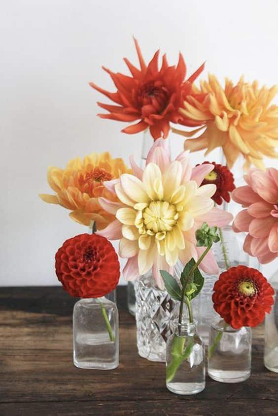 Accumuler les vases et soliflores dans la décoration