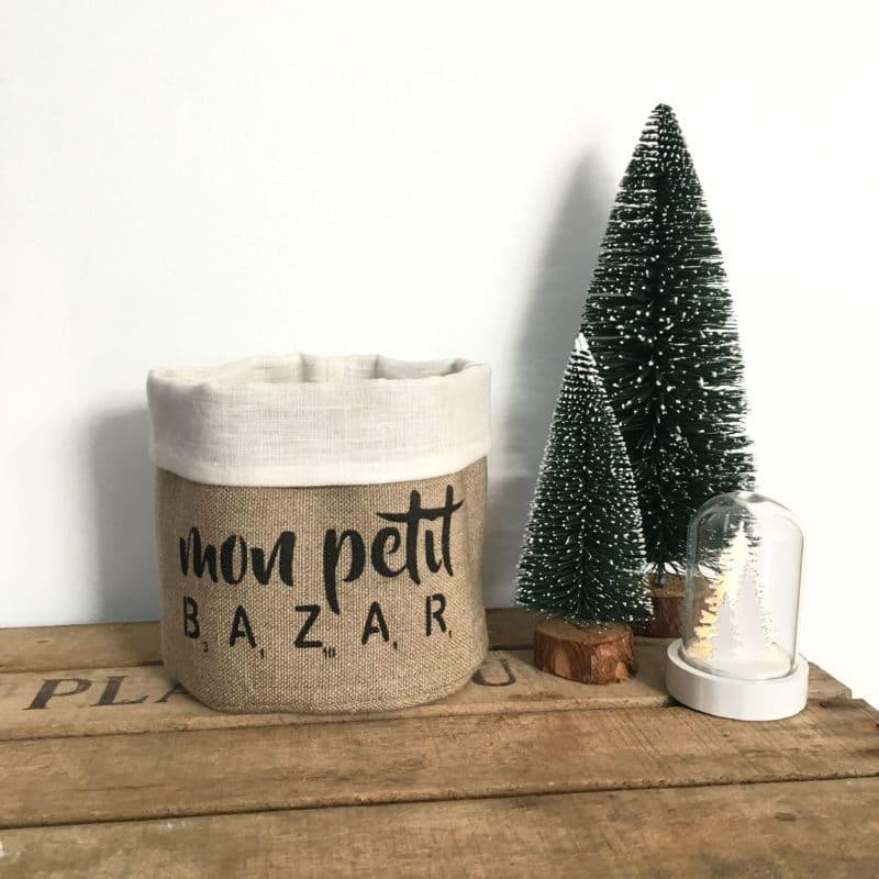 Fourre-tout Mon petit bazar - Blanc - HEMOON - Maison & Décoration