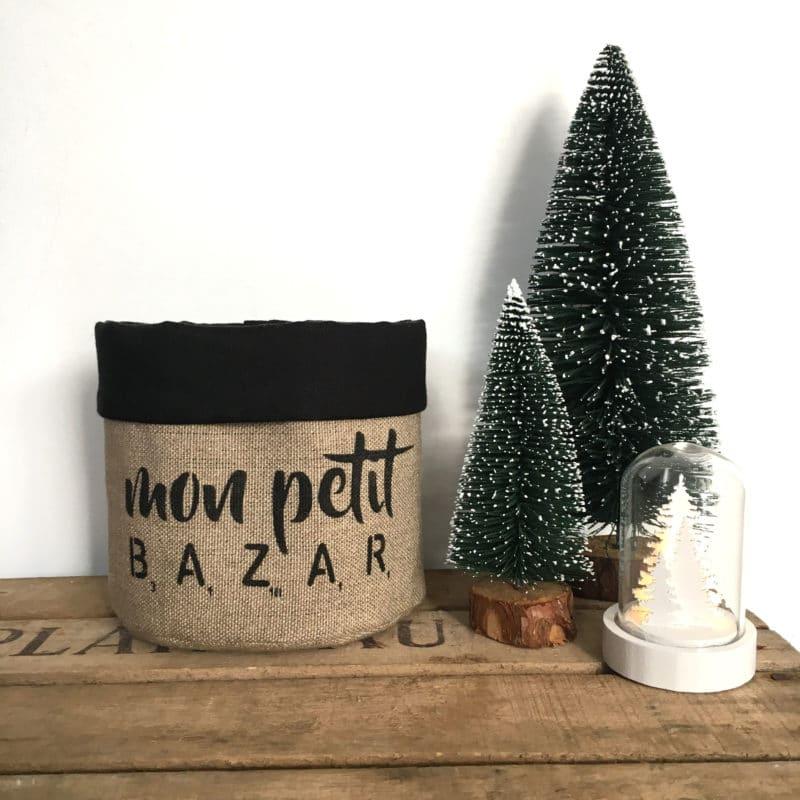 Fourre-tout Mon petit bazar - Noir - HEMOON - Maison & Décoration
