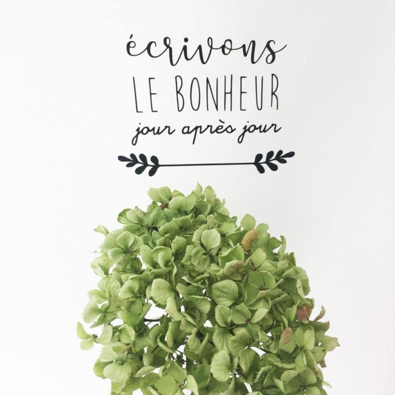 Sticker - Ecrivons le bonheur - HEMOON - Maison & Décoration –