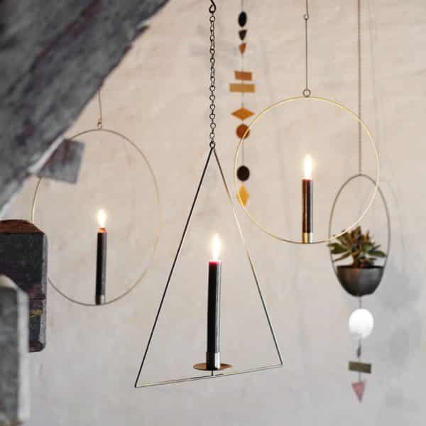 Bougeoir décoratif rond à suspendre - Madam Stoltz