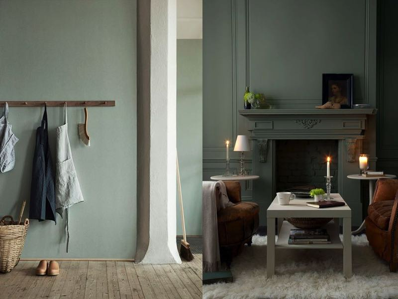 Oser le kaki dans la décoration intérieure #2