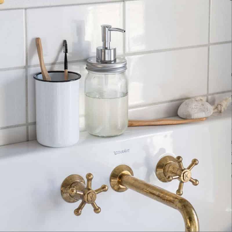 distributeur de savon vintage type mason jar hemoon maison d co. Black Bedroom Furniture Sets. Home Design Ideas