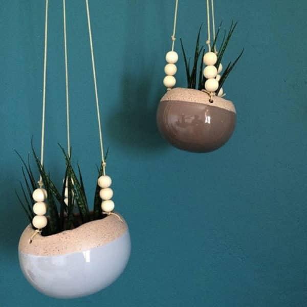 Petit Pot à suspendre en grès par Bloomingville - Hemoon