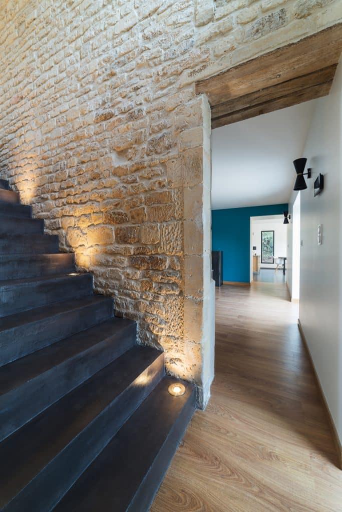 Rénovation d'une maison : pierre de normandie