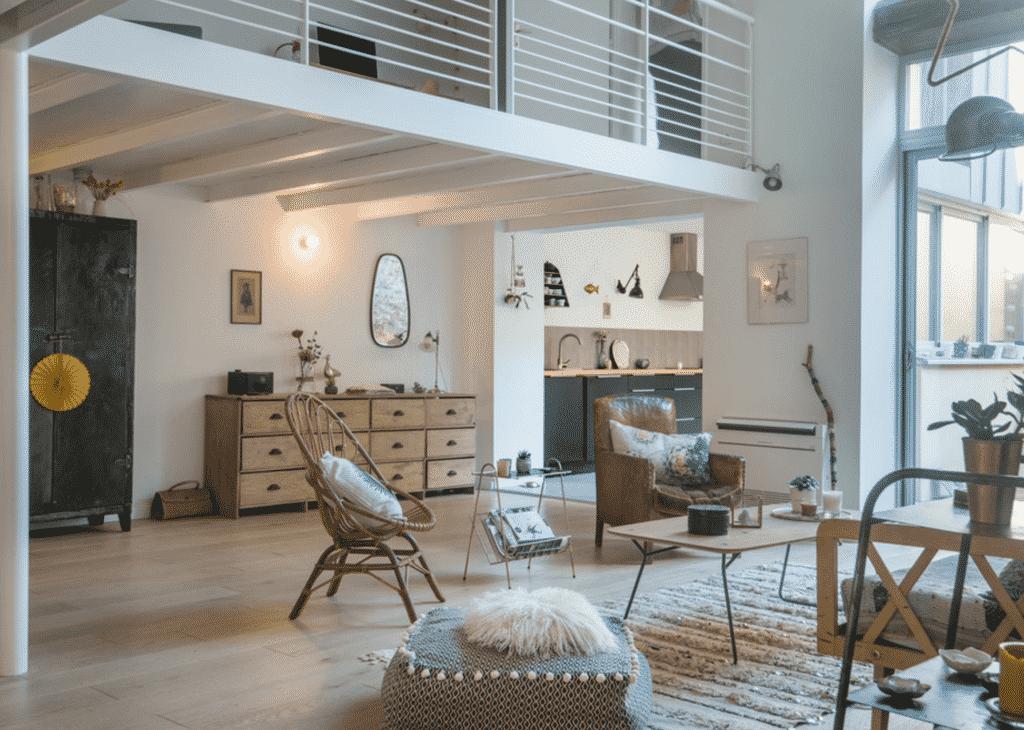 maison façon loft avec mezzanine