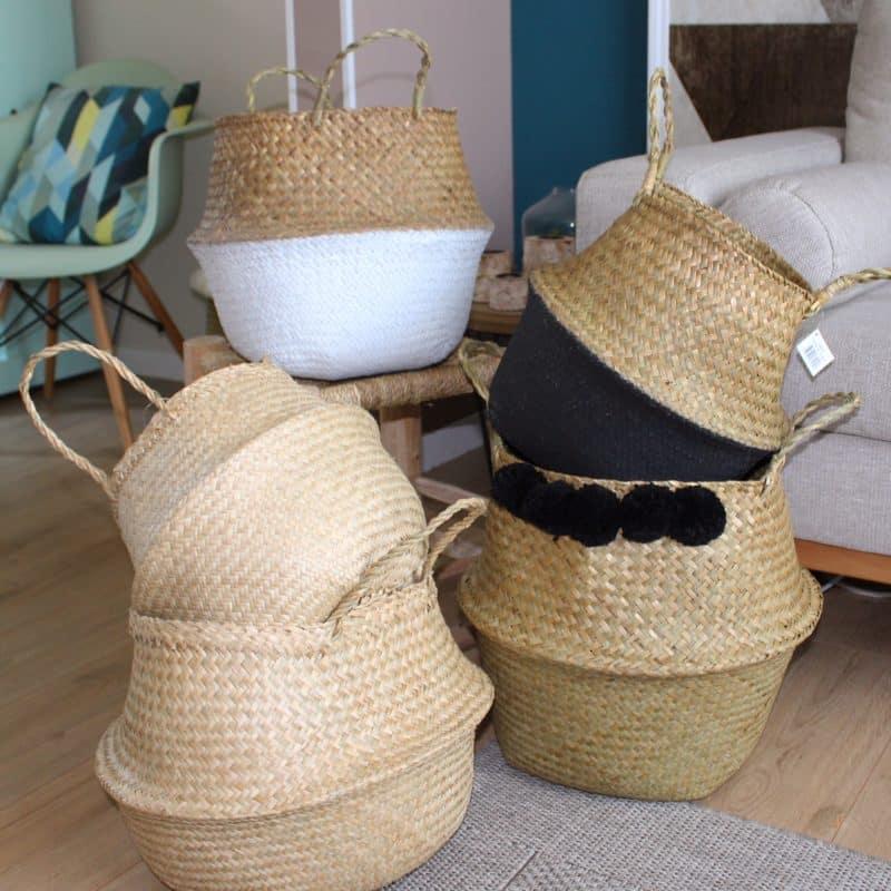 panier boule tha landais naturel hemoon maison. Black Bedroom Furniture Sets. Home Design Ideas