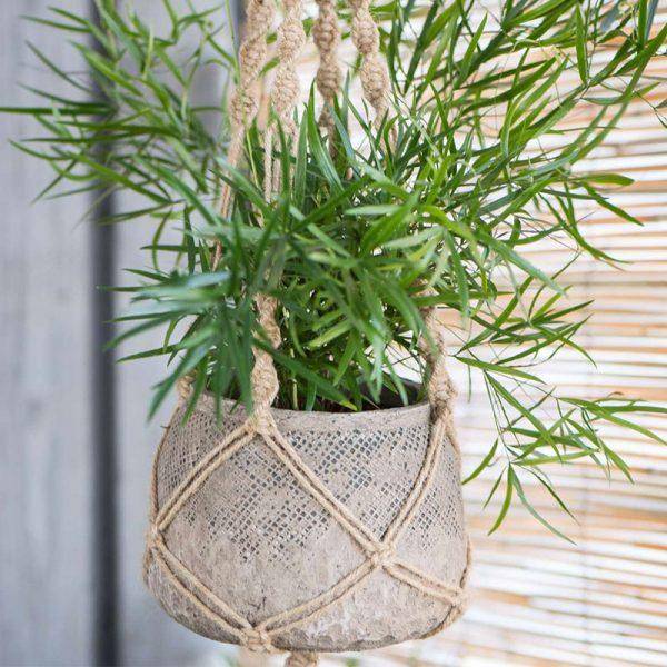 suspension pour plante en corde hemoon maison d coration. Black Bedroom Furniture Sets. Home Design Ideas
