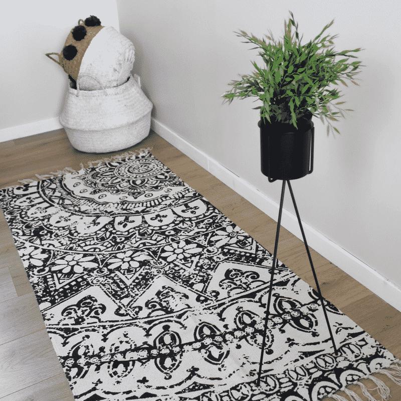 tapis couloir en coton bohemia - Tapis Couloir