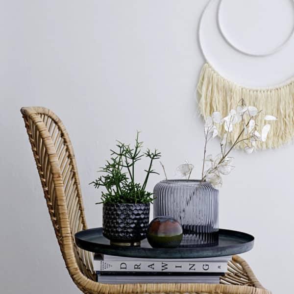 Décoration à franges beige créée par Bloomingville - Hemoon.fr