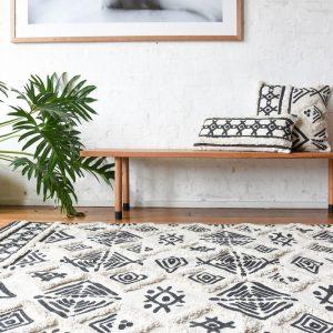 apis berbère motif ethnique noir et blanc - HEMOON