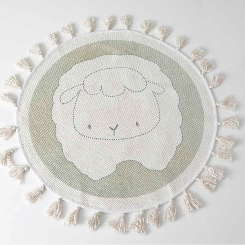 Tapis rond à pompons - SHEEP