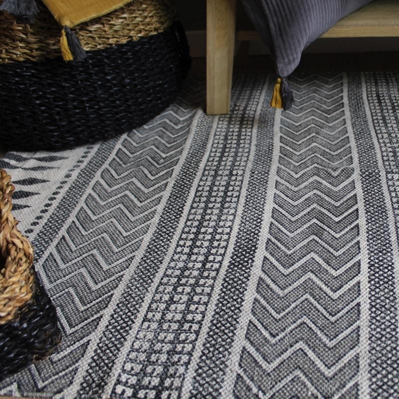 tapis block ethnique style house doctor hemoon maison d coration. Black Bedroom Furniture Sets. Home Design Ideas