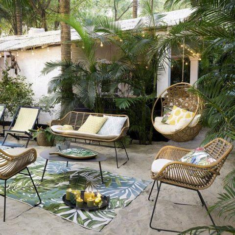 Salon de jardin rotin tendance décoration intérieure