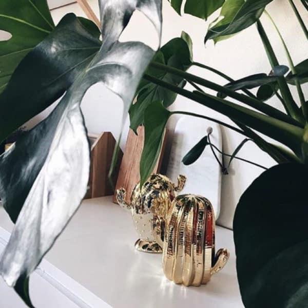 Objet cactus décoratif en or par Bloomingville - HEMOON
