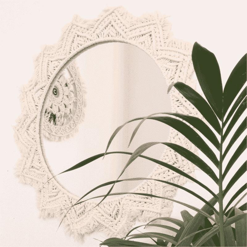 Miroir rosace - Macramé fait main - HEMOON - Maison & Décoration
