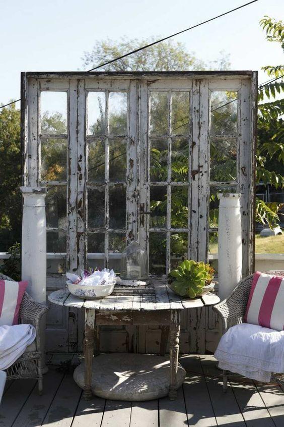 Porte coulissante version vitre ancienne