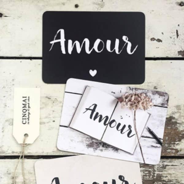 Amour - Ardoise - Carte A6 - HEMOON - Maison & Décoration