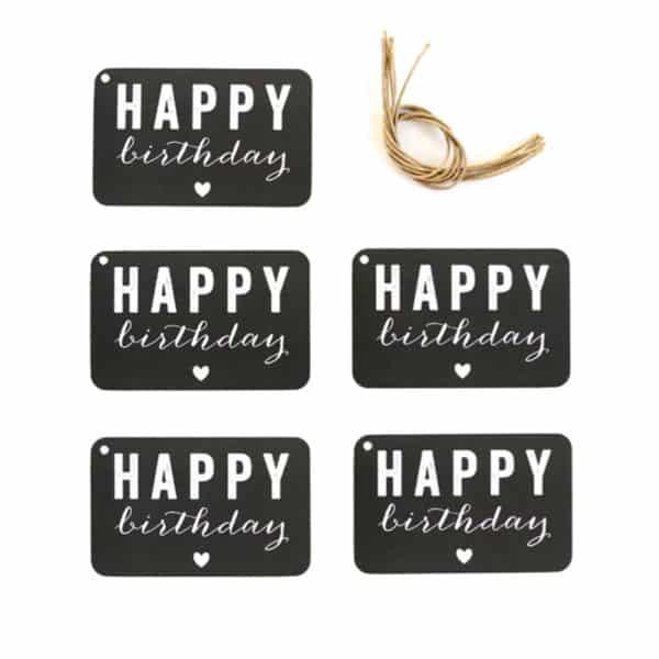 Set de 5 étiquettes anniversaire par Cinqmai sur Hemoon.fr