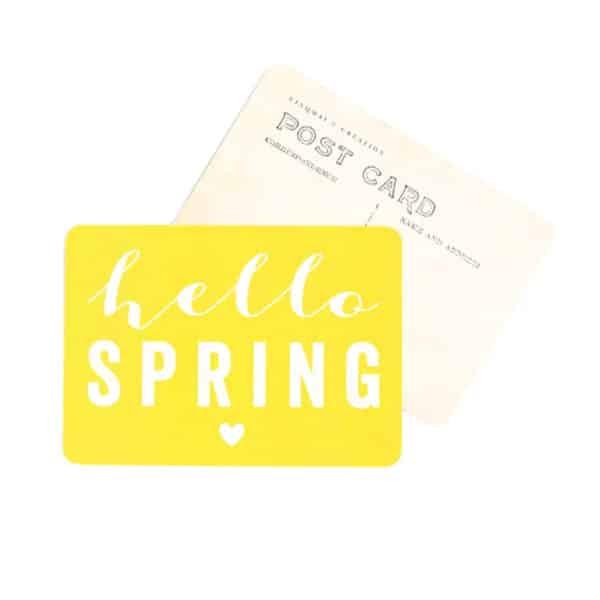 Carte Hello Spring - Citron - Cinqmai - Hemoon : Maison & Déco