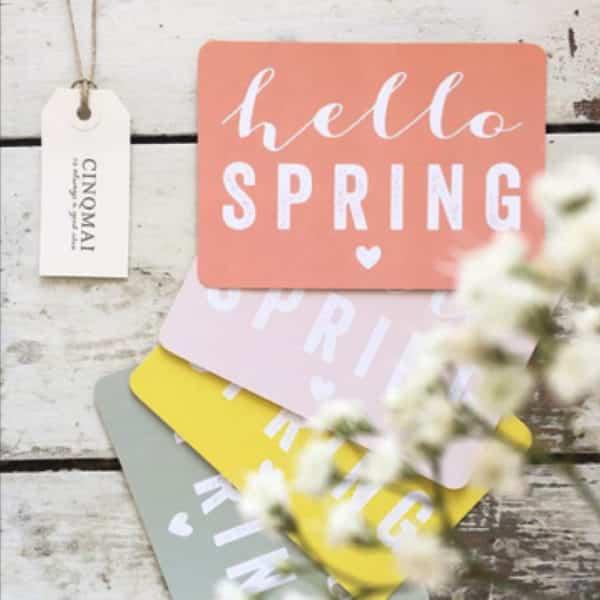 "Carte postale ""Hello Spring"" par CinqMai sur Hemoon.fr"