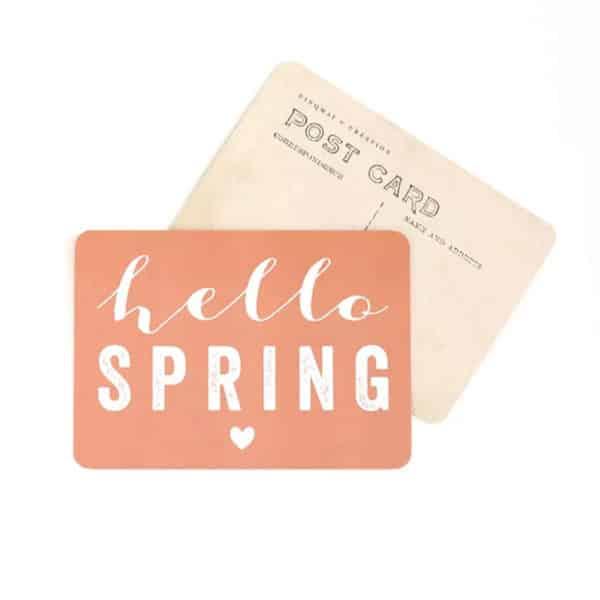 Carte Hello Spring - Orange - Cinqmai - Hemoon : Maison & Déco