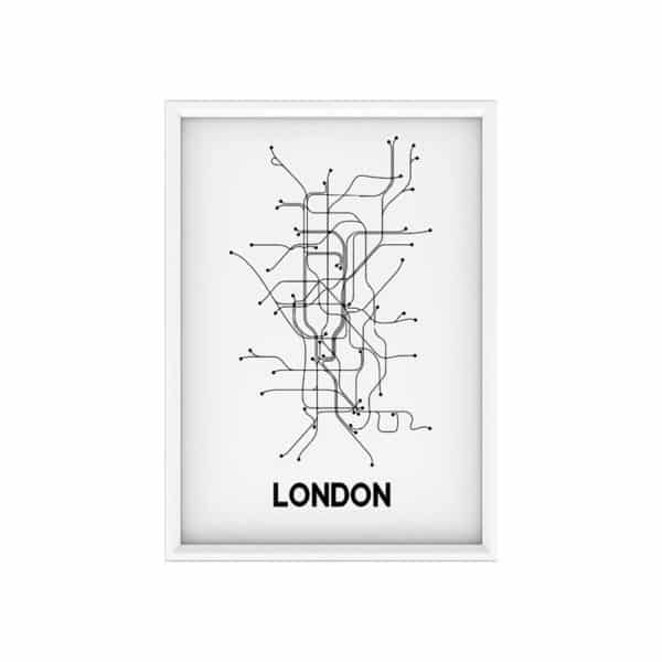 Poster A3 - LONDON MAP - HEMOON - Maison & Décoration