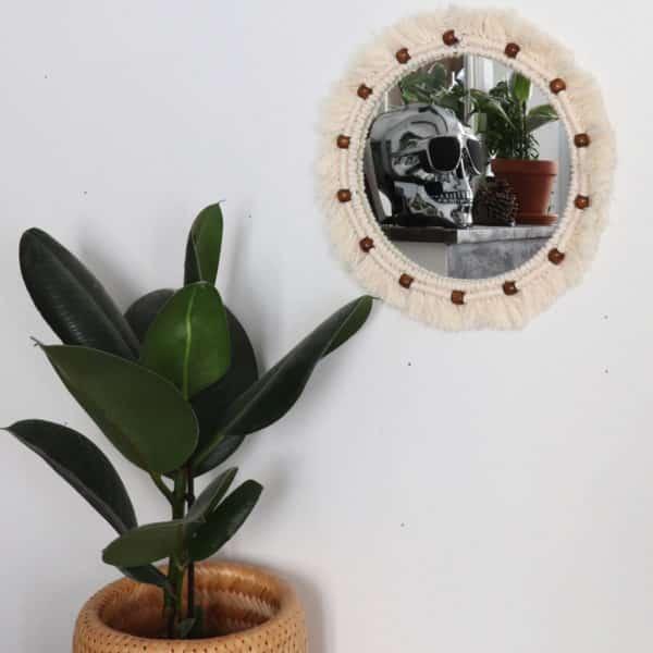 Miroir - Macramé & Perle fait main - HEMOON - Maison & Décoration