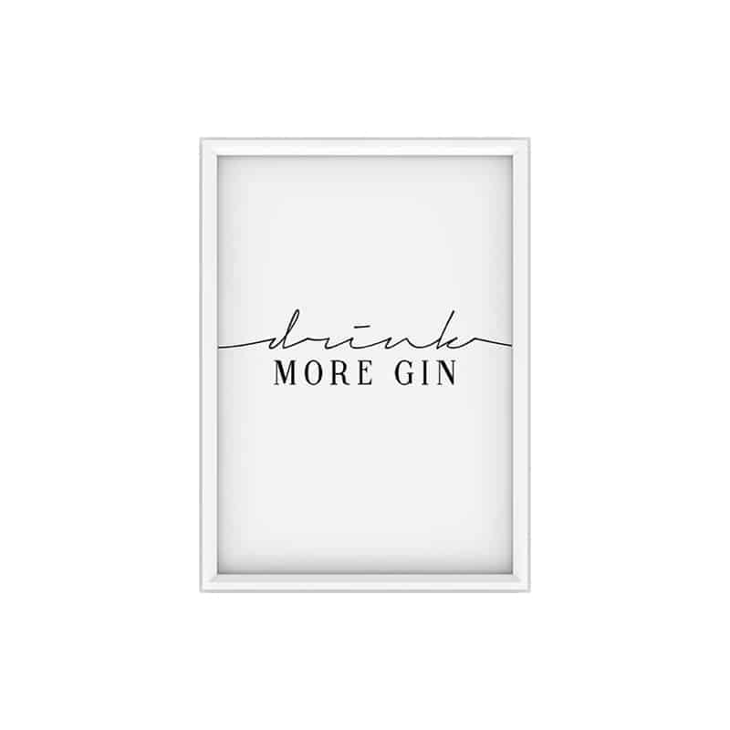 Poster DRINK MORE GIN - 50x70 cm - SANDY NICOLE
