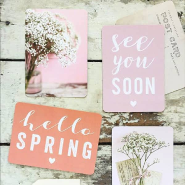 Carte See you Soon - Rose poudré - Cinqmai - Hemoon : Maison & Déco