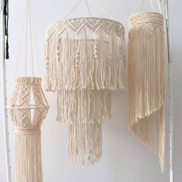 abat jour spirale macram fait main hemoon maison d coration. Black Bedroom Furniture Sets. Home Design Ideas