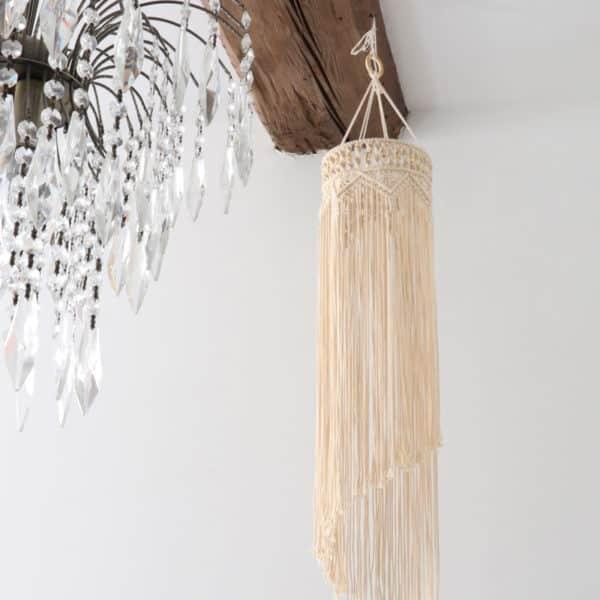 Abat-jour Spirale - macramé fait main - HEMOON - Maison & Décoration