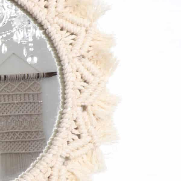 Miroir grande rosace - Macramé fait main - HEMOON - Maison & Décoration