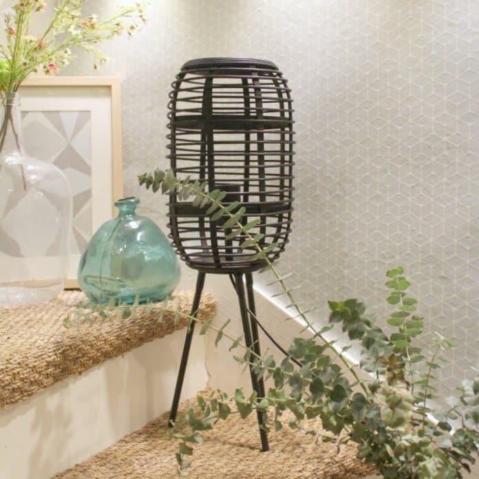 Lampe naturelle en bambou noire - Décoration naturelle et bohème
