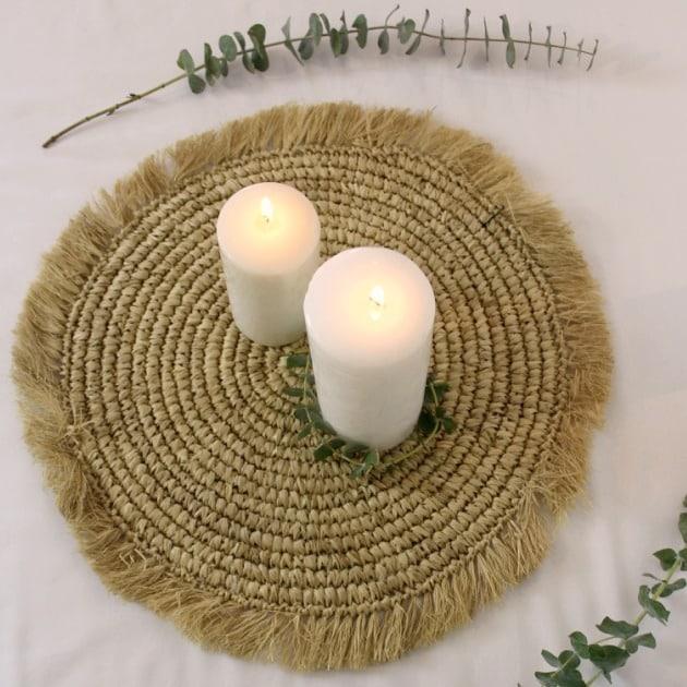 Set de table rond en sisal naturel - HEMOON - Maison & Décoration
