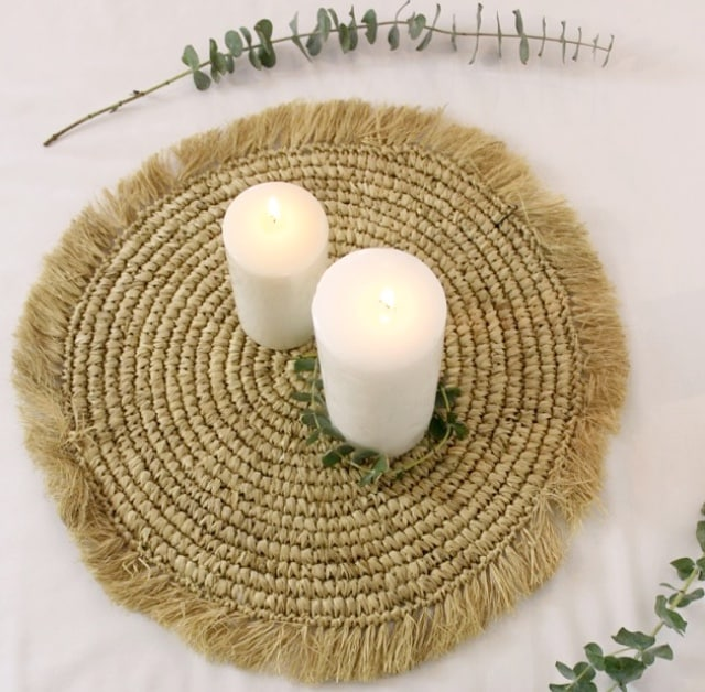 Set décoratif en sisal naturel
